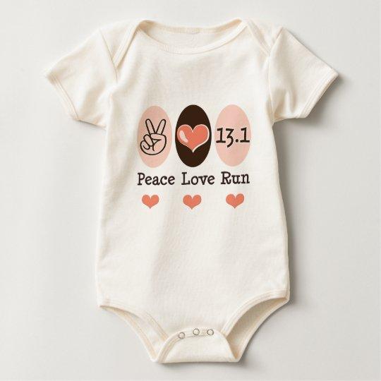 Peace Love Run 13.1 Half Marathon Baby Baby Bodysuit