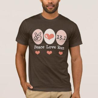 Peace Love Run 13.1 Half Marathon T shirt