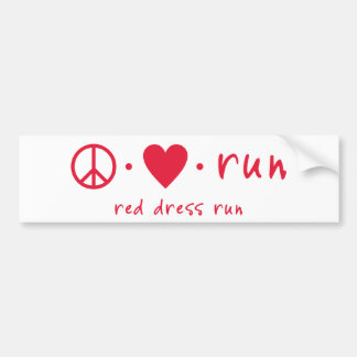 Peace Love Run Bumper Sticker