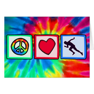 Peace, Love, Run Card