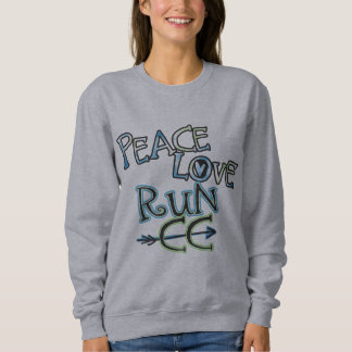 PEACE LOVE RUN CC - Cross Country Sweatshirt