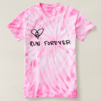 Peace, Love, Run Forever Tie Dye Tee