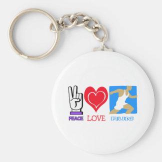 PEACE LOVE RUN KEYCHAIN