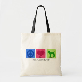Peace Love Russell Terrier Tote Bag