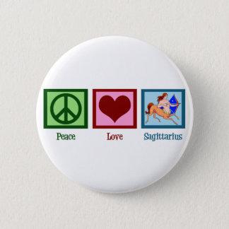 Peace Love Sagittarius 2 Inch Round Button