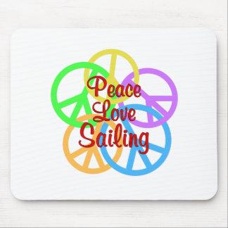 Peace Love Sailing Mouse Pad
