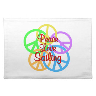 Peace Love Sailing Placemat