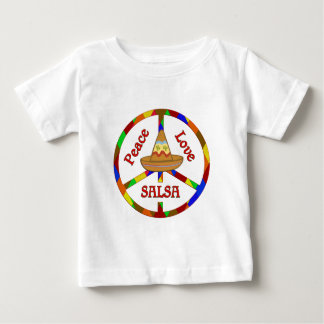 Peace Love Salsa Baby T-Shirt
