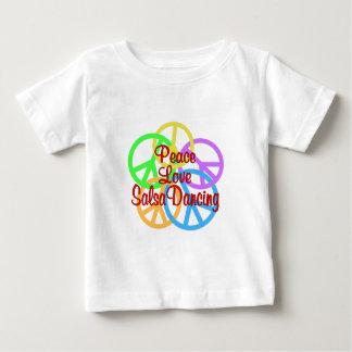 Peace Love Salsa Dancing Baby T-Shirt
