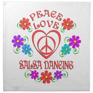 Peace Love Salsa Dancing Napkin