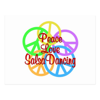 Peace Love Salsa Dancing Postcard