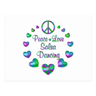 Peace Love Salsa Dancing Postcard