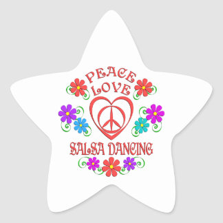 Peace Love Salsa Dancing Star Sticker