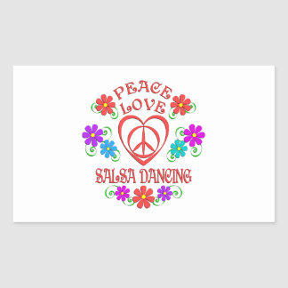 Peace Love Salsa Dancing Sticker