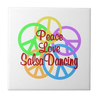 Peace Love Salsa Dancing Tile