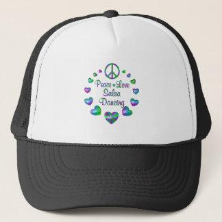 Peace Love Salsa Dancing Trucker Hat
