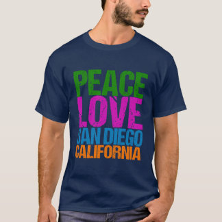 Peace Love San Diego California T-Shirt