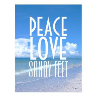 Peace, Love, Sandy Feet Postcard