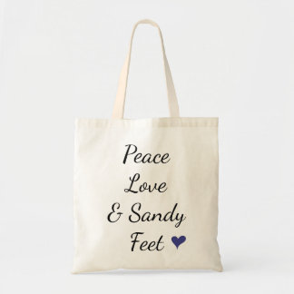Peace Love & Sandy Feet Tote