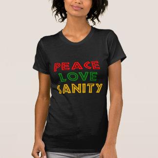 Peace Love Sanity T Shirt