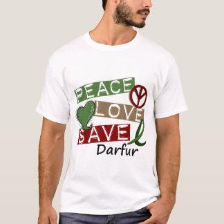 PEACE LOVE SAVE Darfur T-Shirt