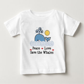 Peace Love Save The Whales Baby T-shirt