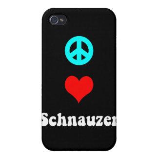 peace love schnauzer iPhone 4/4S case