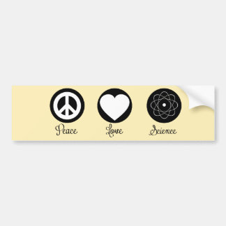 Peace Love & Science Bumper Stickers