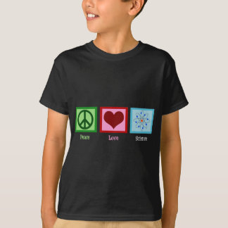 Peace Love Science Kids T-Shirt