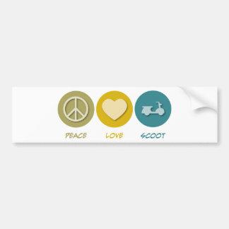 Peace Love Scoot Bumper Sticker