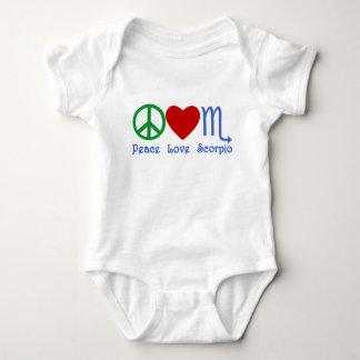 Peace Love Scorpio Zodiac Design Baby Bodysuit