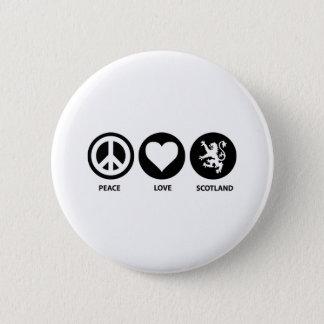 Peace Love Scotland 2 Inch Round Button