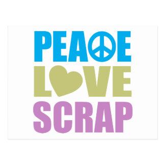 Peace Love Scrap Postcard