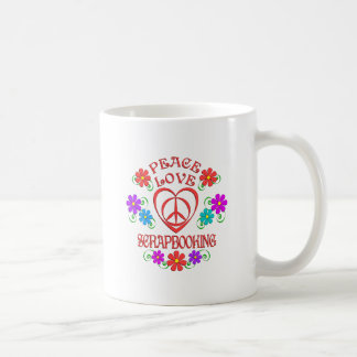 Peace Love Scrapbooking Coffee Mug