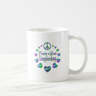 Peace Love Scrapbooking Coffee Mug