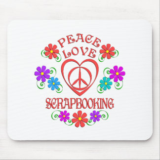Peace Love Scrapbooking Mouse Pad