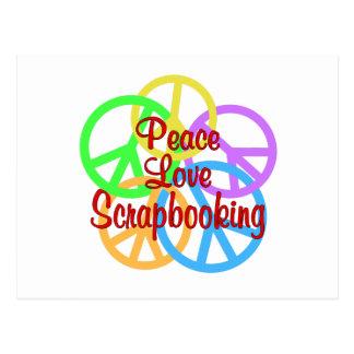 Peace Love Scrapbooking Postcard