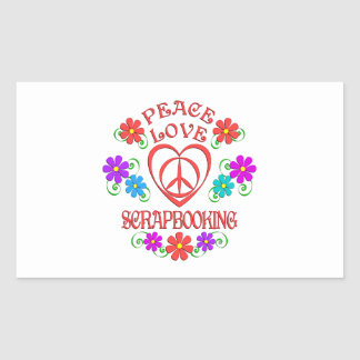 Peace Love Scrapbooking Sticker