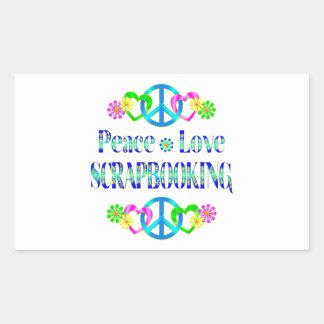 Peace Love Scrapbooking Rectangular Stickers