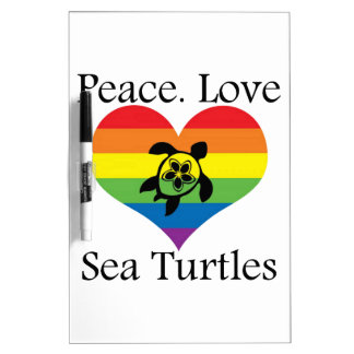 Peace. Love. Sea turtles Dry-Erase Whiteboards