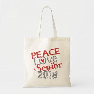 Peace Love Senior 2018 Tote Bag