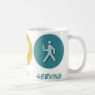 Peace Love Serving Coffee Mug