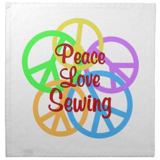 Peace Love Sewing Napkin