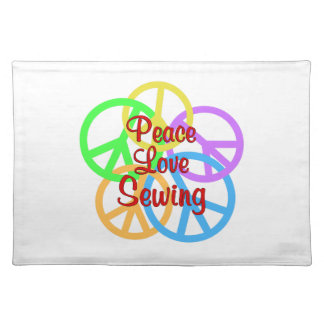 Peace Love Sewing Placemat