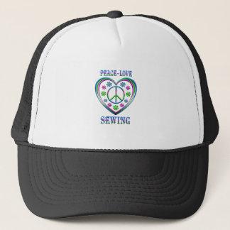 Peace Love Sewing Trucker Hat