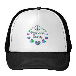 Peace Love Sewing Trucker Hat