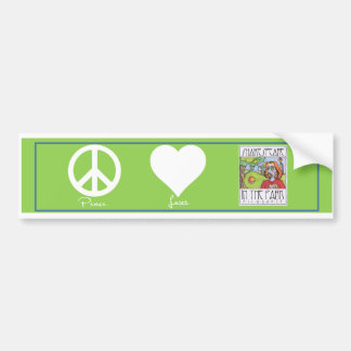 Peace * Love * Shakespeare in the Park Bumper Stic Bumper Sticker