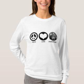 Peace Love Shakespeare T-Shirt