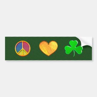 Peace Love Shamrock - Bumper Sticker