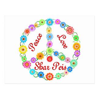 Peace Love Shar Peis Postcard